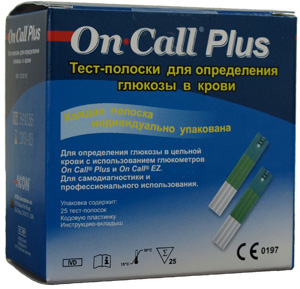 Тест-полоски On-Call™ Plus, 25шт.
